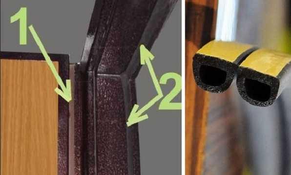 Замена уплотнителя - первый шаг, если сквозит из-под входной двери