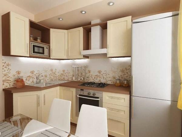 Ремонт кухни 9 кв. м с угловым расположением гарнитура