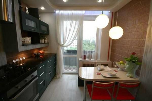 Ремонт кухни 9 кв м с неутепленным и балконом