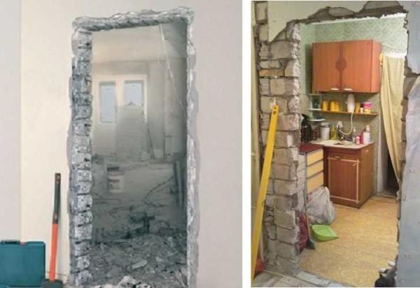 Это то, что получается после демонтажа двери