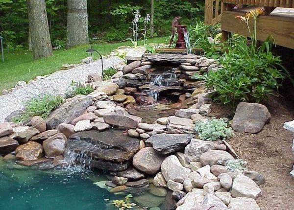 Вот что должно получится - сквозь воду на бортах просвечивают камни, а не пленка