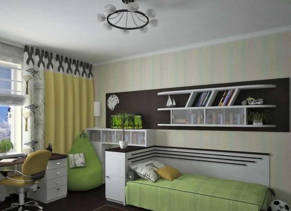 При разработке дизайна комнаты мальчика подростка надо прислушиваться к его мнению или делать что-то нейтральное