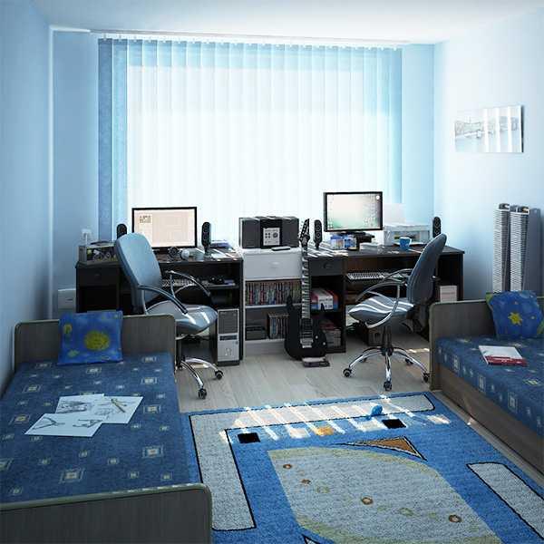 Комната двух мальчиков-подростков