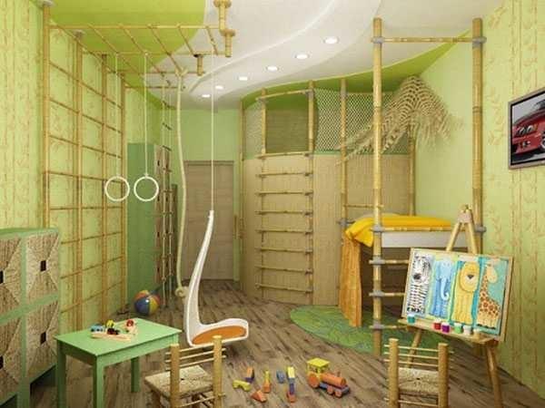 Дизайн детской комнаты для мальчика повышенной активности