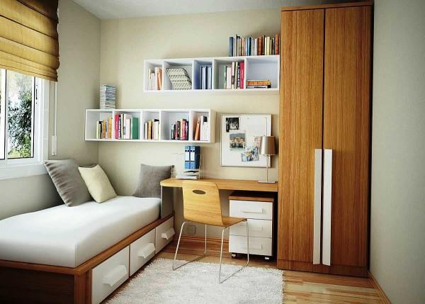 Оптимальное использование свободного пространства - основной девиз дизайна маленьких помещений