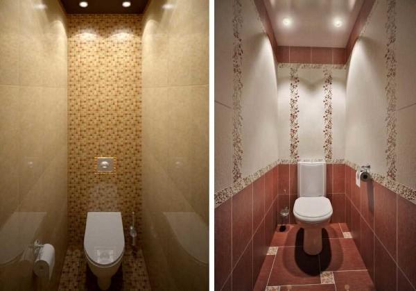 Разный дизайн туалета одинакового размера