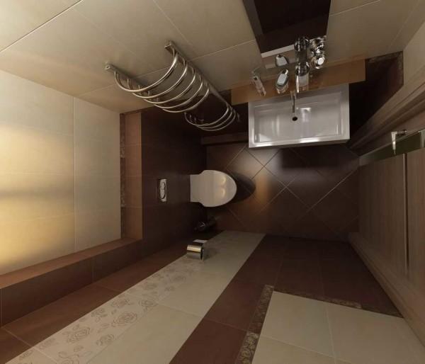 Если двери в туалет смещены к одной из стен (можно сместить их во время ремонта) раковину можно установить на боковой стене