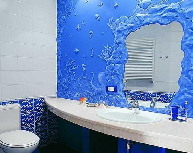 Дизайн туалета в морском стиле