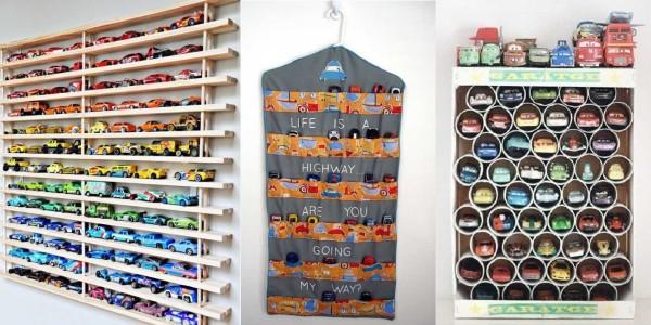 Как организовать хранение машинок (настенный гараж)