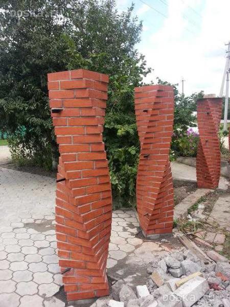 Витые столбы для продвинутых каменщиков