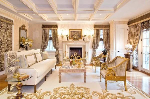 Потолок в классическом стиле редко остается ровным