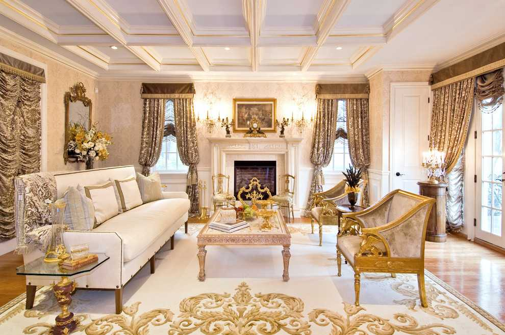 Дизайн квартиры в классическом стиле прихожая гостинная