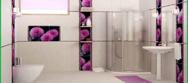 В основном ванную отделывают плиткой большого формата