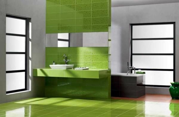 Плитка для ванной в стиле минимализм тоже отличается лаконичностью