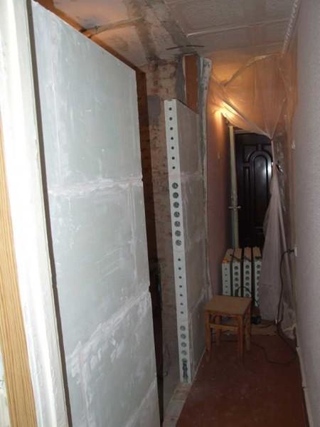Перегородки из стеновых блоков