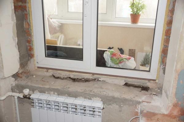 Ставим пластиковое окно и разводим систему отопления