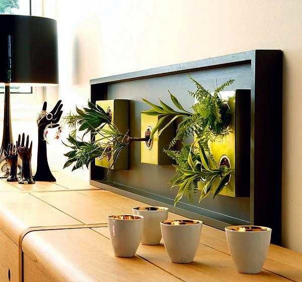 Еще один вариант живой картины из растений