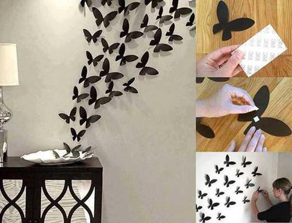 Как сделать бабочки на стену своими руками