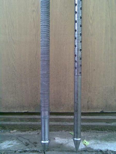 Первый элемент абиссинского колодца - игла с наконечником-пикой и фильтром