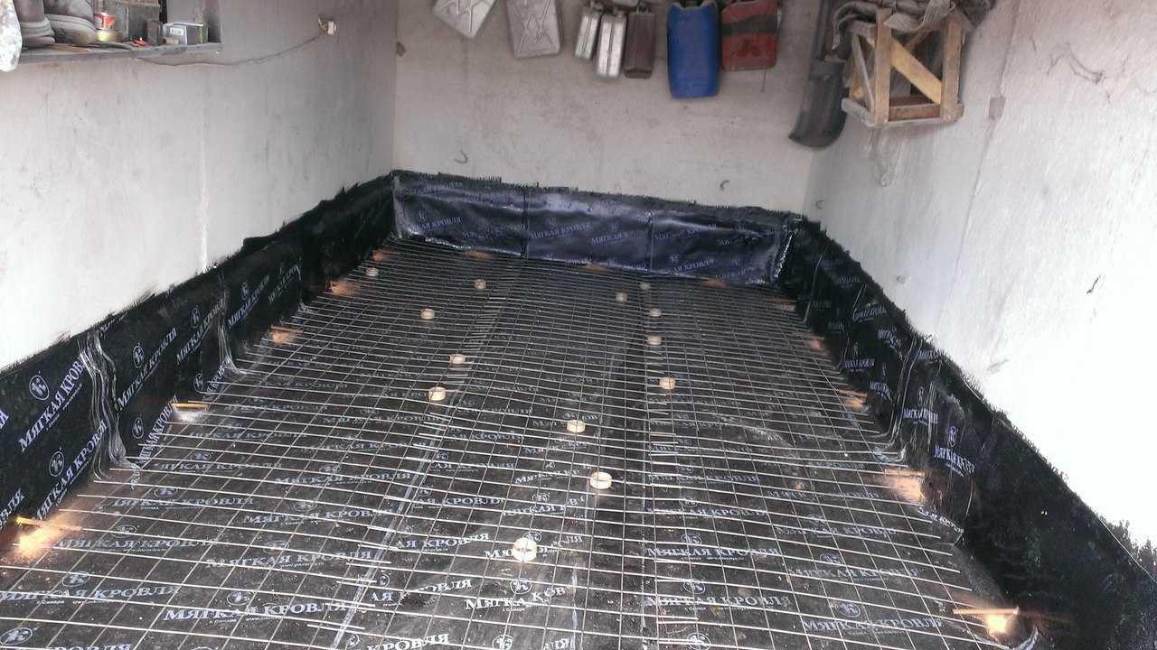 Как заливать пол в гараже цементным раствором мини завод по производству бетона б у