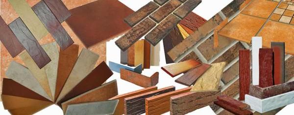 Образцы клинкерной плитки для имитации кирпичной кладки
