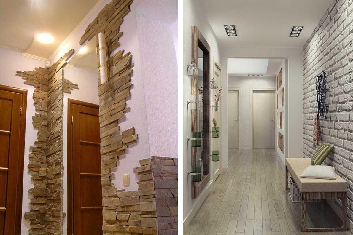 декор коридора искусственным камнем фото того, иметь общее