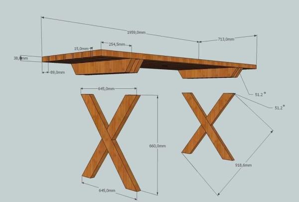 Как сделать уличный столик из дерева
