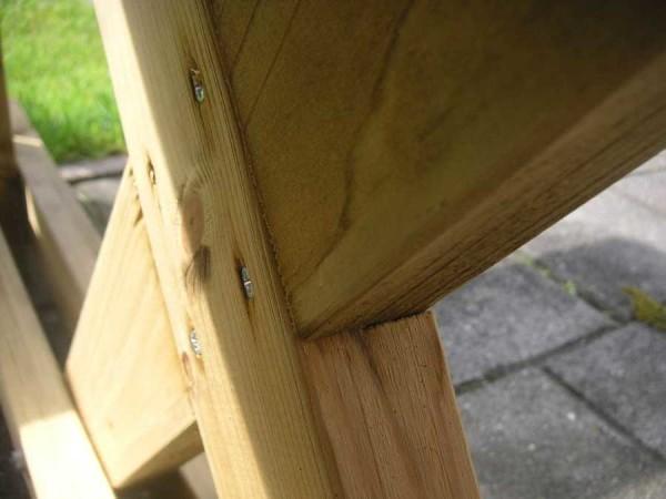 Как сделать Х-образные ножки для садового стола