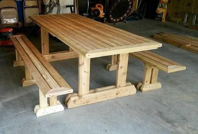 стол для дачи своими руками 4 модели с поэтапными фото