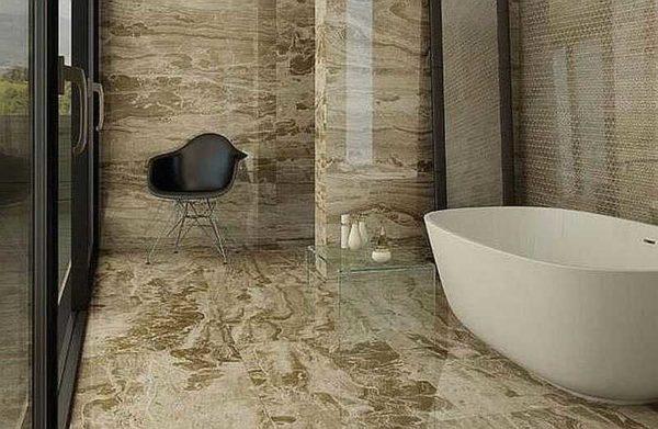 Вариации на тему природного камня в ванной