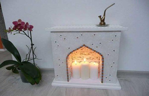 Свечной камин - точно декоративный. Никакой функциональной нагрузки