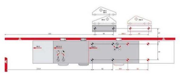 Пример шаблона для установки дверного доводчика