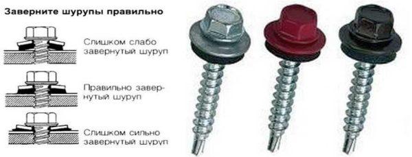 Саморезы для металлопрофиля и правила их установки