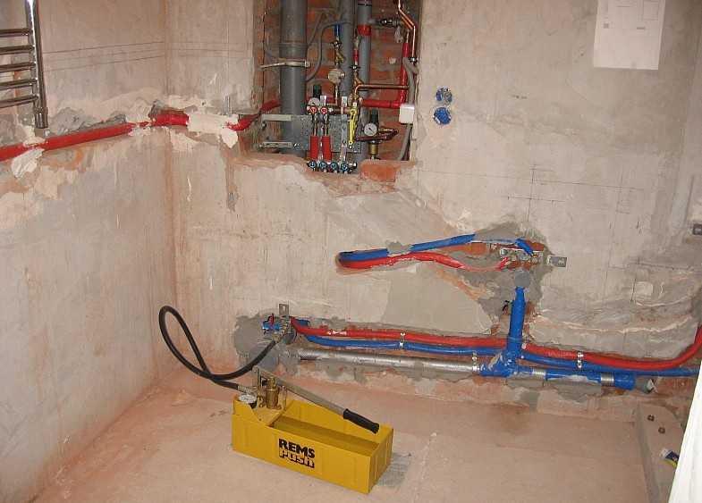 Опрессовка бетона месить цементный раствор