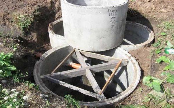 Компактный септик из бетонных колец