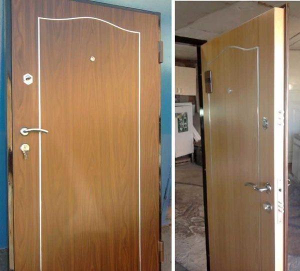 Самодельная железная дверь установлена