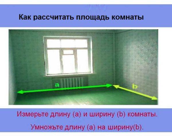 Как высчитать площадь комнаты