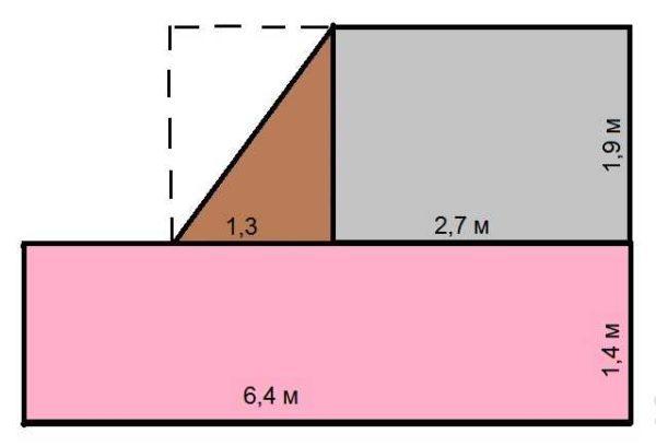 Как посчитать площадь комнаты неправильной формы