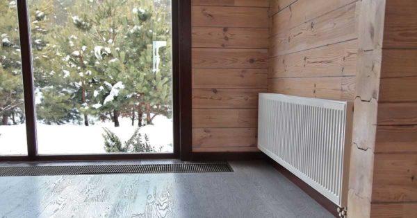 Внутрипольный конвектор - выход для обогрева французских окон и стеклянных дверей от пола до потолка