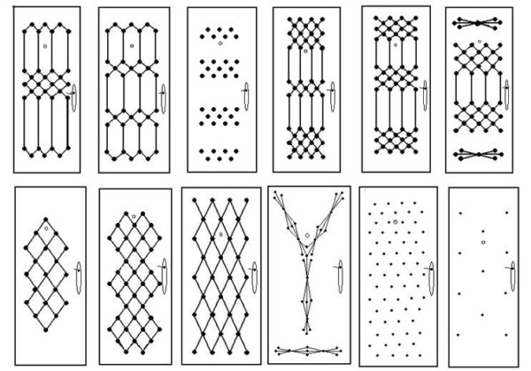 Примеры рисунков для обивки двери дермантином