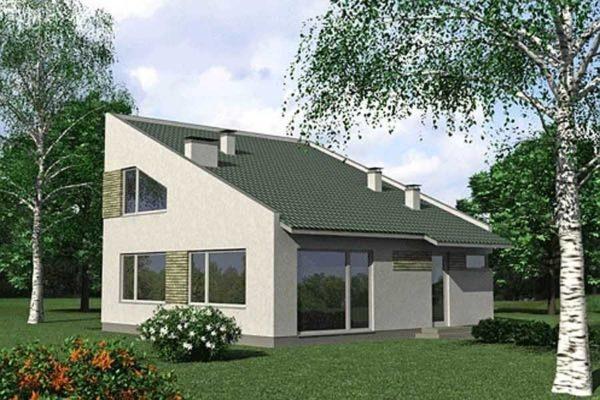 Проект небольшого дома под односкатной крышей