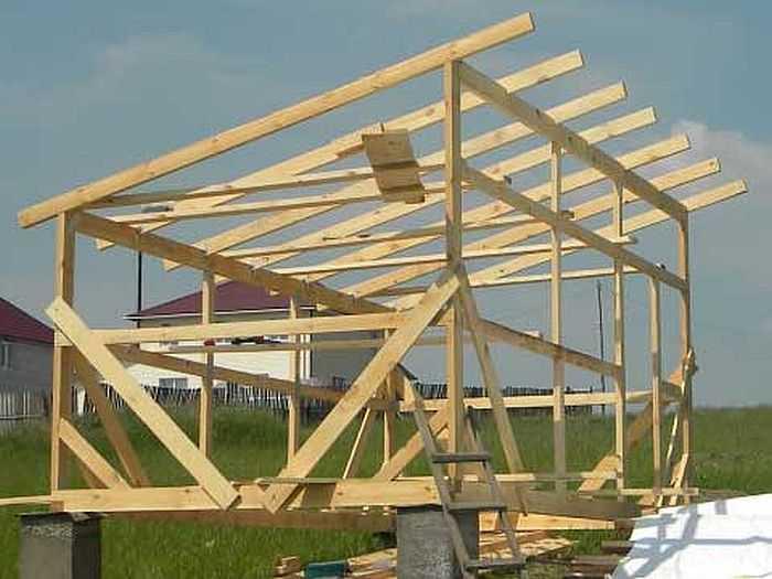 Односкатная крыша и расчет материалов