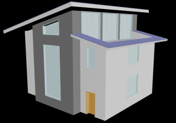 Идея дома под односкатной крышей