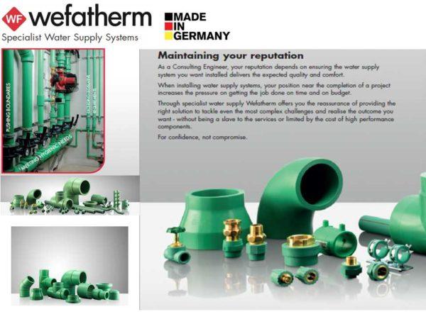 Еще одни немецкие полипропиленовые трубы Wefatherm (Вефатерм)