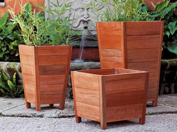 Второй вариант изготовления деревянных вазонов для цветов