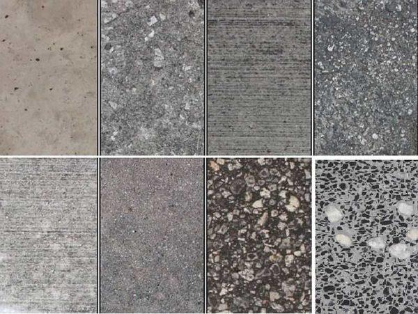 Некоторые виды декоративного бетона