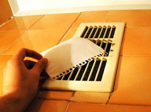 Проверить насколько хорошо работает вентиляция в ванной легко