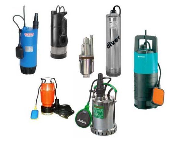Погружные насосы есть разных типов (вихревые и вибрационные), работать могут с разной водой - чистой, грязной и очень грязной