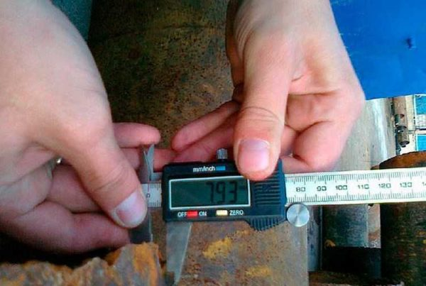 Измерения штангенциркулем более точные