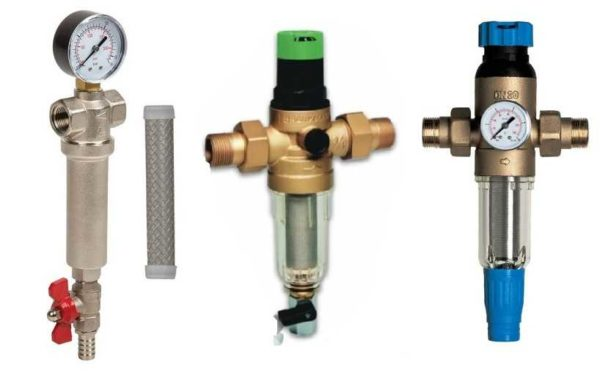 Виды механических фильтров для воды с промывкой